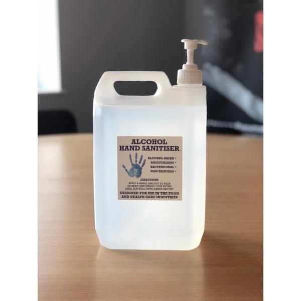 HAND SANITISER 5L - INDUSTRIAL & MANUFACTURING WORKPLACE