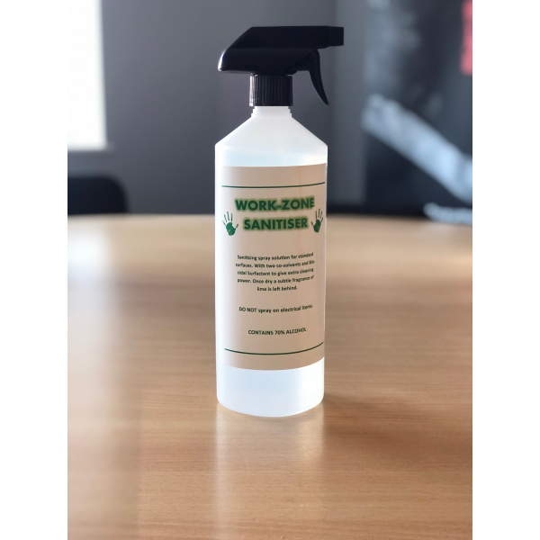 WORKPLACE SPRAY CLEANER 1L - 70% ALCOHOL