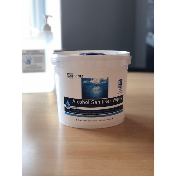 ELEMENTS ALCHOL WIPES TUB - 250 - INDUSTRIAL AND MANUFACTURING WORKPLACE